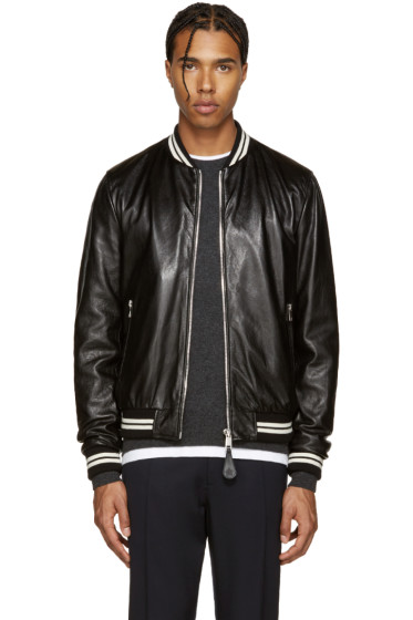 Dolce & Gabbana - Black Lambskin Bomber Jacket