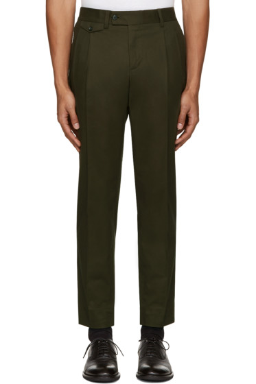 Dolce & Gabbana - Green Pleated Trousers