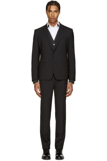 Dolce & Gabbana - Black Wool Martini Suit