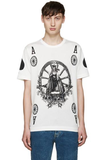 Dolce & Gabbana - Ivory Ace T-Shirt
