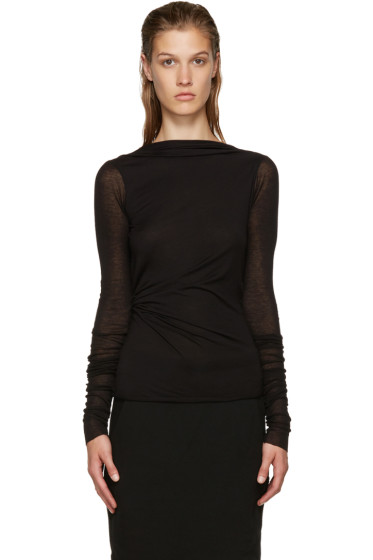 Rick Owens Lilies - Black Backless T-shirt
