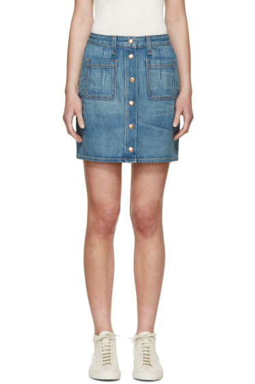 Rag & Bone - Blue Denim Santa Cruz Skirt