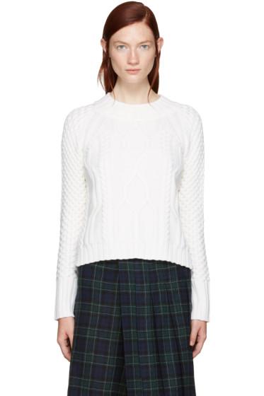 Rag & Bone - Ivory Cropped Cameron Sweater