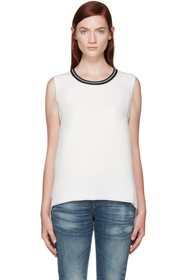 Rag & Bone - White Silk Romy Top