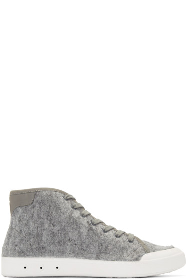 Rag & Bone - Grey Wool New Standard High-Top Sneakers