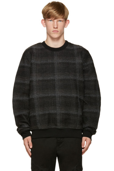 Public School - Black Centrum Wrinkled Plaid Pullover