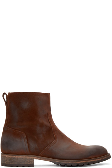 Belstaff - Brown Suede Attwell Boots