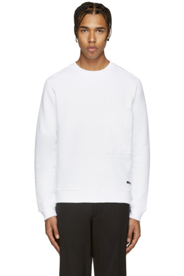 Diesel Black Gold - White Quilted Pocket Sweatshirt