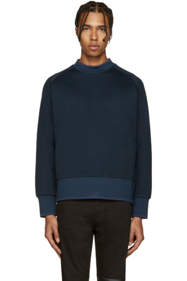 Diesel Black Gold - Blue Extended Crewneck Sweatshirt