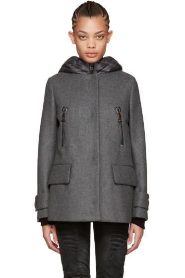 Moncler - Grey Wool & Down Euphemia Coat