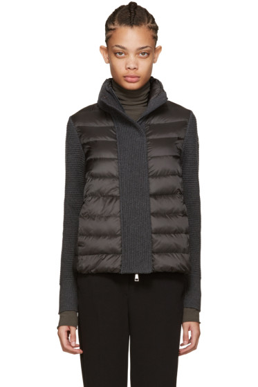 Moncler - Grey Quilted Down Jacket