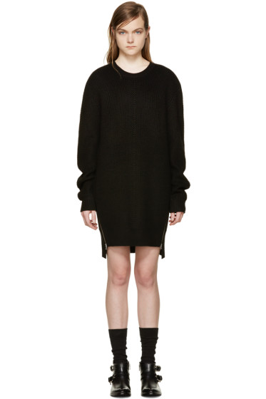 McQ Alexander Mcqueen - Black Wool Pullover Dress