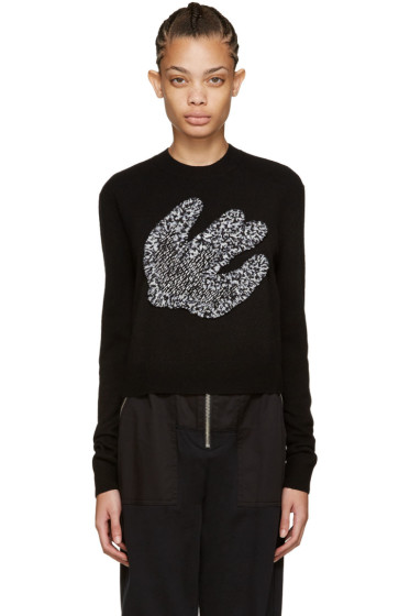 McQ Alexander Mcqueen - Black Fringed Swallow Pullover