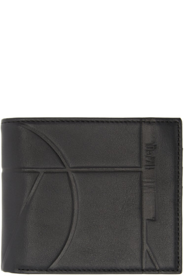 McQ Alexander Mcqueen - Black Leather Embossed Wallet