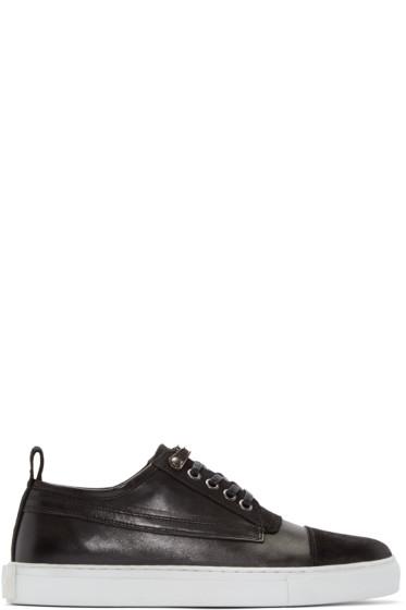 McQ Alexander Mcqueen - Black Leather Chris Sneakers