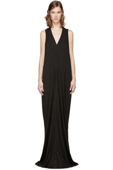 Rick Owens Drkshdw - Black Cascade Dress