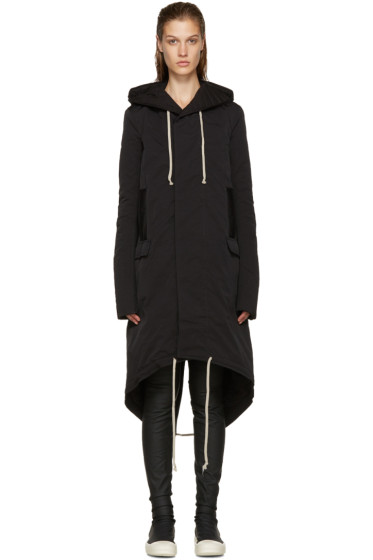 Rick Owens Drkshdw - Black Murray Fishtail Parka
