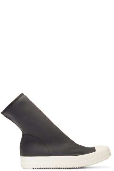 Rick Owens Drkshdw - Black Mid Sock Sneakers