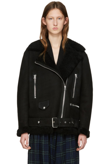 Acne Studios - Black Shearling More Jacket