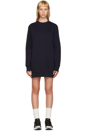 Acne Studios - Navy Fleece Carola Pullover Dress