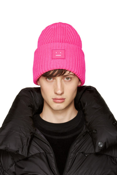Acne Studios - Pink Pansy Beanie