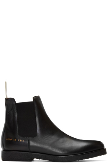 Common Projects - Black Leather Chelsea Boots