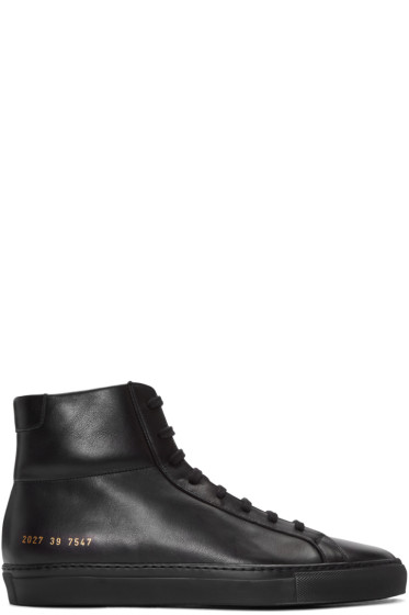 Common Projects - Black Original Achilles High-Top Sneakers