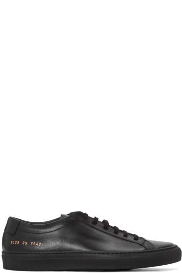 Common Projects - Black Original Achilles Sneakers