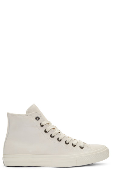 Converse by John Varvatos - Grey Leather CTAS II High-Top Sneakers