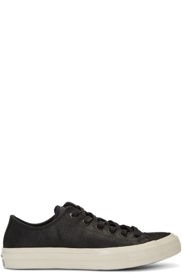 Converse by John Varvatos - Black Leather CTAS II OX Sneakers