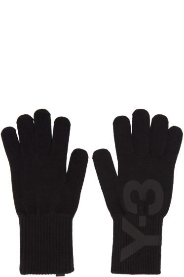 Y-3 - Black Logo Gloves