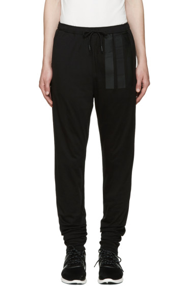 Y-3 - Black Long John Lounge Pants