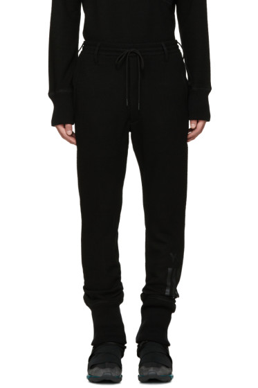 Y-3 - Black Wool Lounge Pants