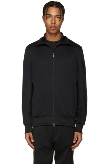 Y-3 - Black Zip-Up Sweater
