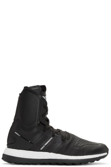 Y-3 - Black Pure Boost ZG High-Top Sneakers