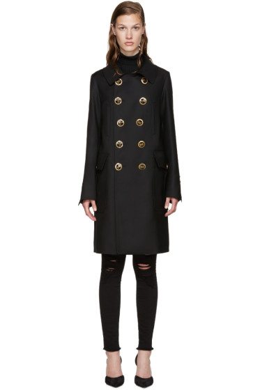 Dsquared2 - Black Golden Lyon Trench Coat