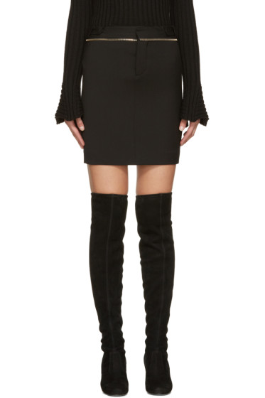 Dsquared2 - Black Zippered Miyako Miniskirt
