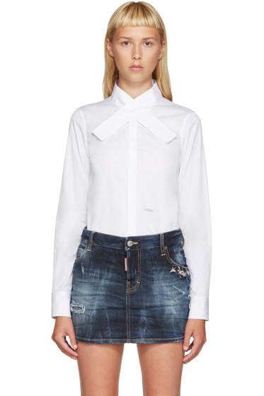 Dsquared2 - White Kimono Collar Shirt