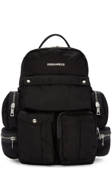 Dsquared2 - Black Multi Pockets Backpack