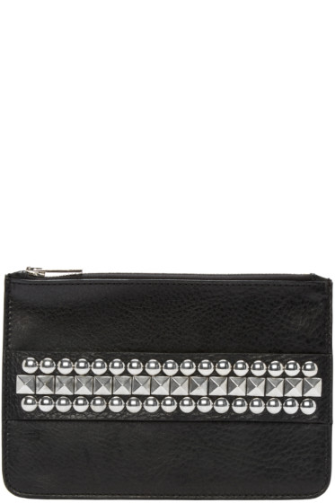 Dsquared2 - Black Studded Zip Pouch