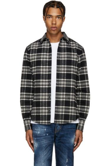 Dsquared2 - Black & White Flannel Check Shirt