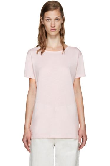 Helmut Lang - Pink Open Back T-Shirt