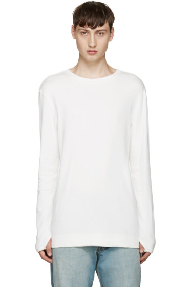 Helmut Lang - White Ribbed T-Shirt