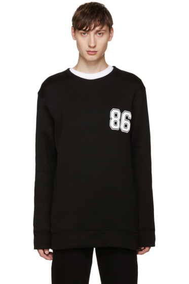 Helmut Lang - Black Varsity Logo Sweatshirt