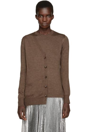 Maison Margiela - Brown Asymmetric Trompe L'Oeil Sweater