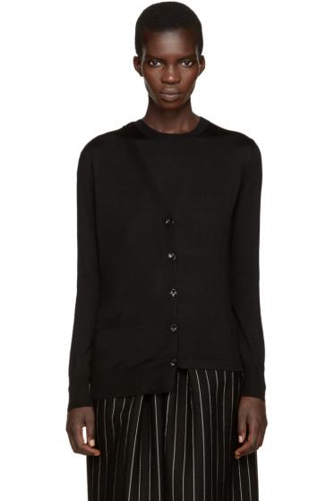 Maison Margiela - Black Asymmetric Trompe L'Oeil Sweater
