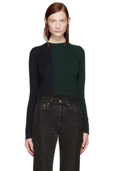 Maison Margiela - Navy & Green Knit Bodysuit