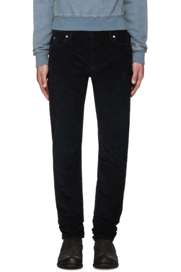 Maison Margiela - Navy Slim Corduroy Trousers