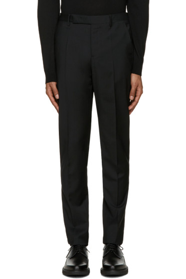 Maison Margiela - Black Wool High-Rise Trousers