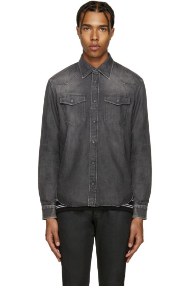 Maison Margiela - Black Denim Faded Shirt